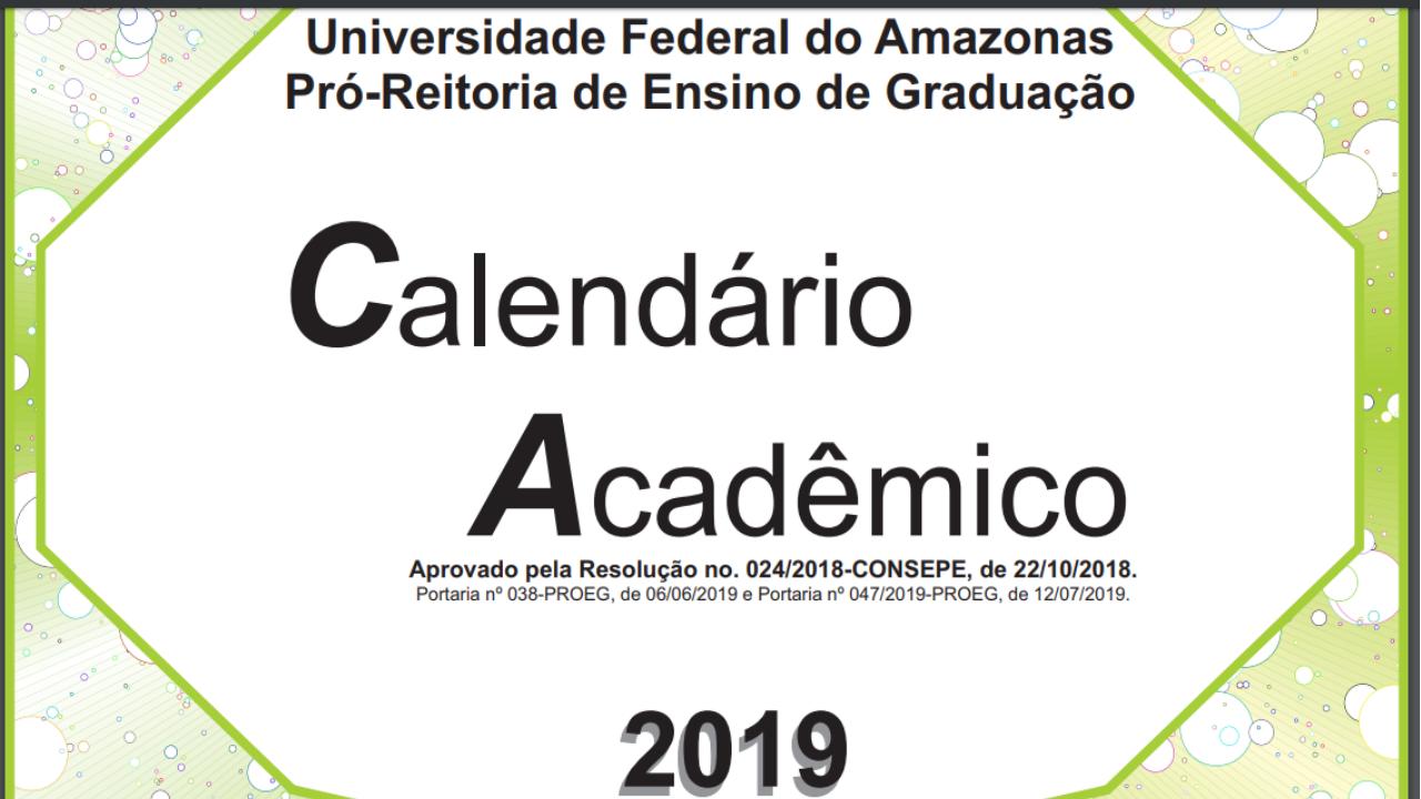 Acompanhe calendário acadêmico para 2019/2, pedido de aproveitamento tem novas datas
